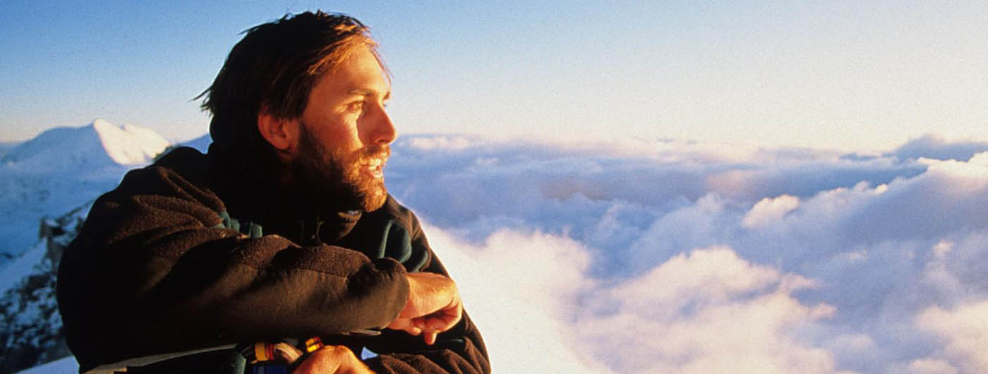 photo of erik on the summit ridge of denali