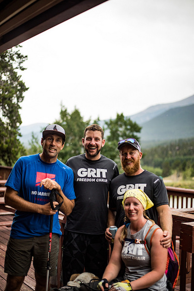 a photo of erik with the grit team at the dao house at whats your everest 2018