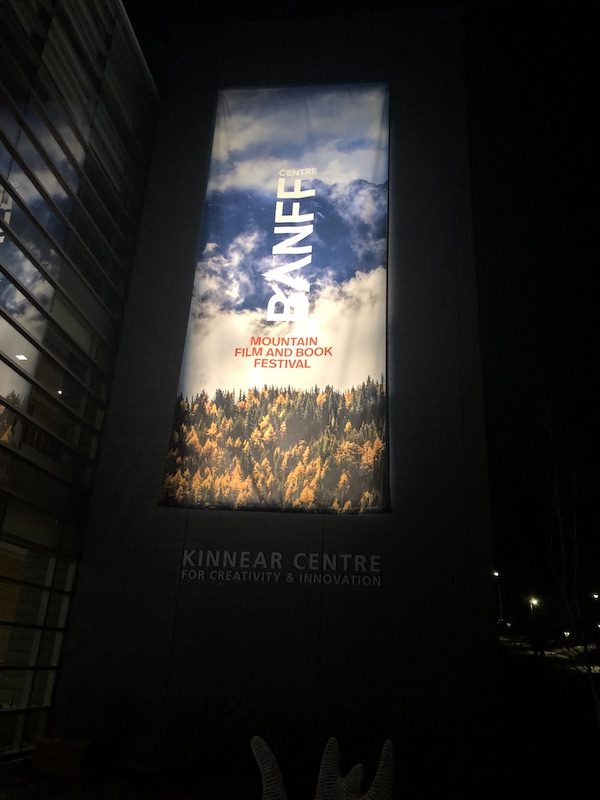 a photo of the Banff sign outsde