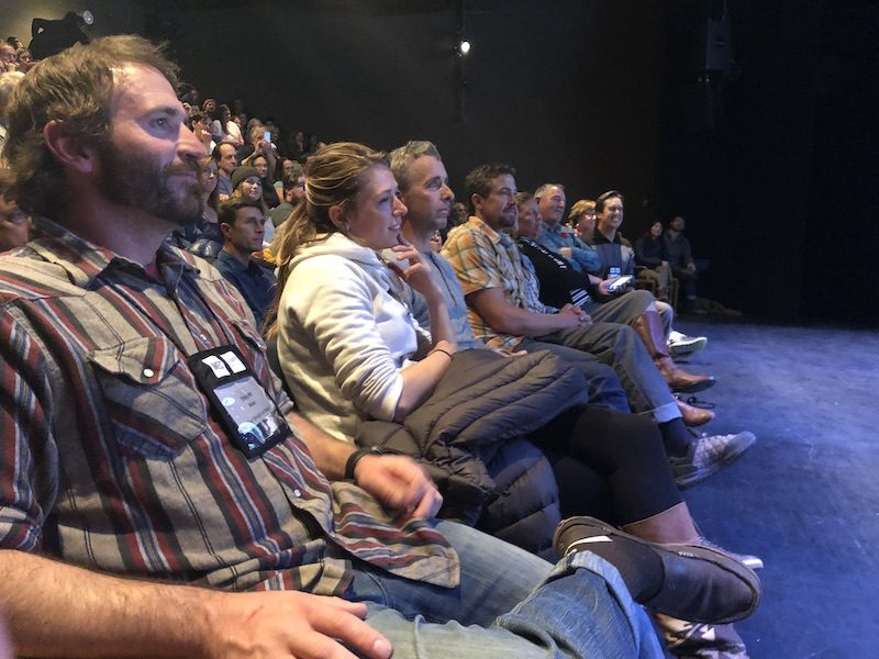a photo of friends in movie seats at denver film festival