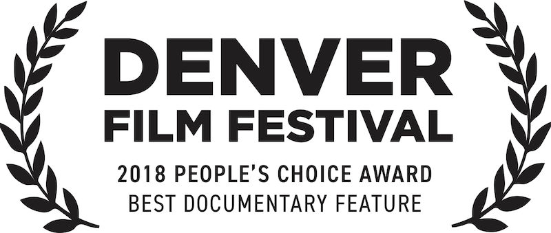 a photo of the peoples choice award for best doc at denver film festival