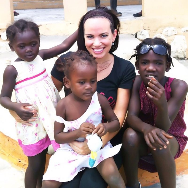 a photo of shanna with three children