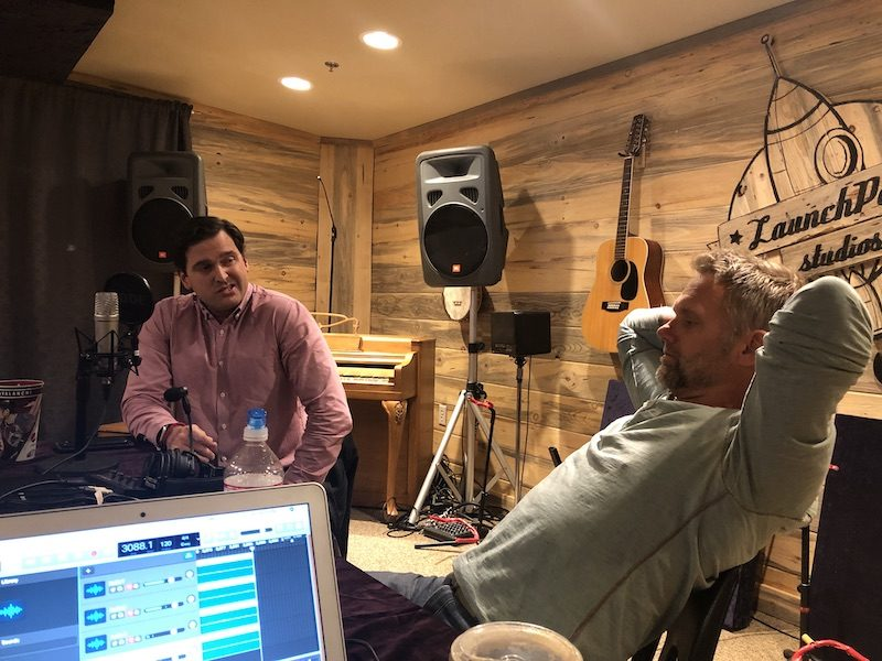 a photo of jeff evans and luis benitez during a podcast recording