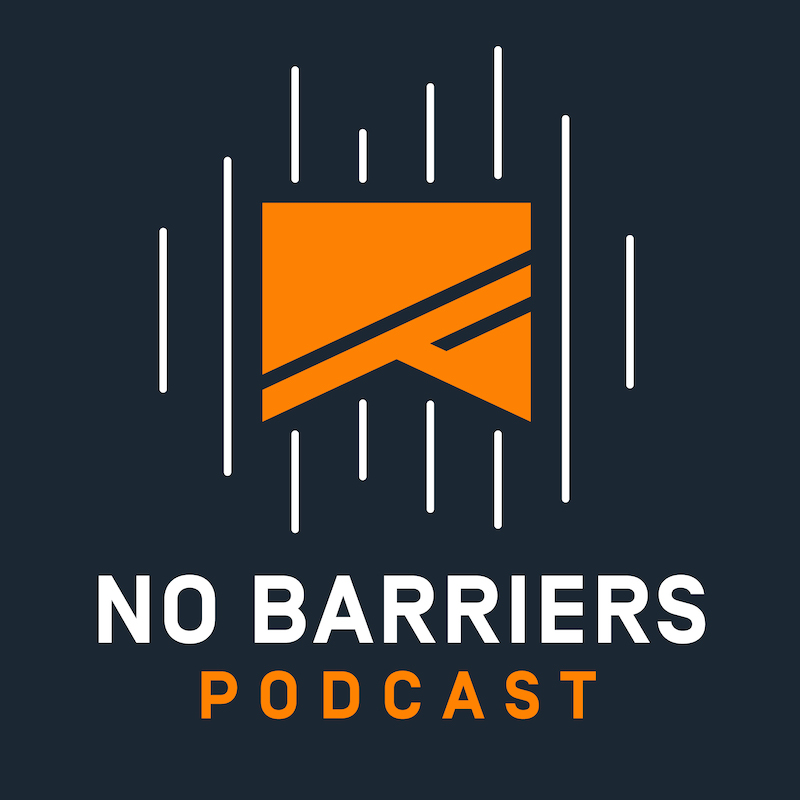 the no barriers podcast logo