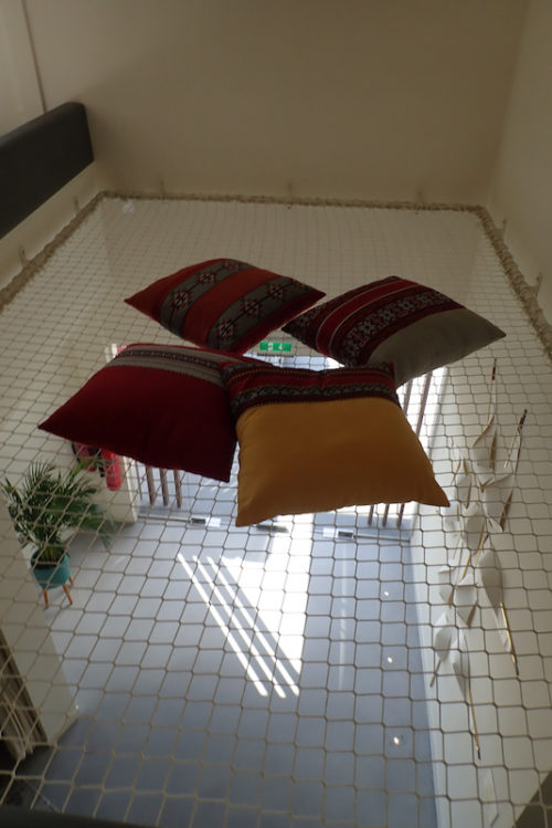 a photo of a hammock in an office in dubai
